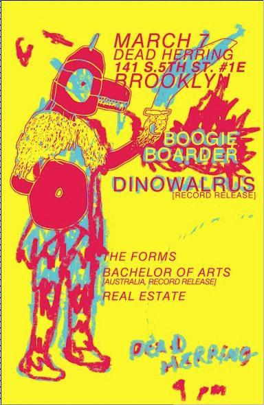 Boogie Boarder Bachelor Of Arts Dinowalrus The Forms Show Flyer