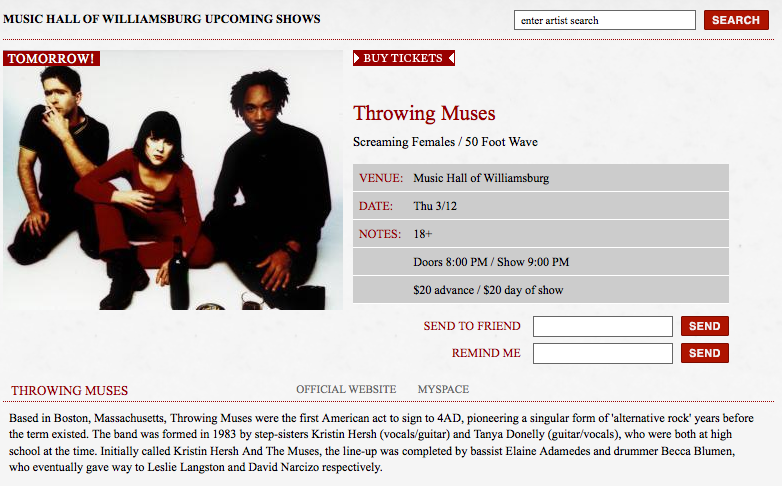 throwing muses 50 foot wave screaming females