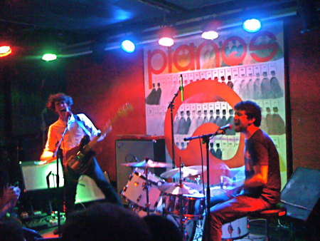Japandroids at Pianos crappy photo by bob reich