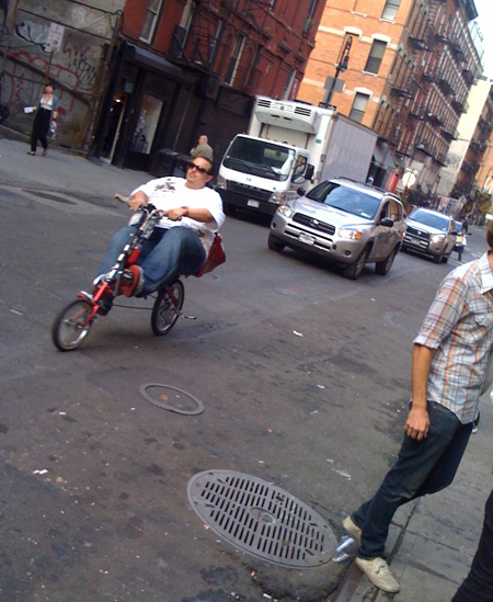 low rider outside of cake shop during cmj