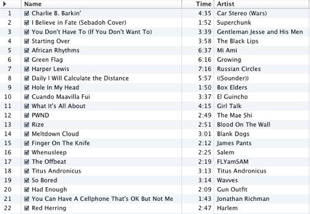 The December 2008 Mix