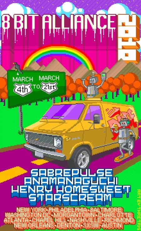 8-bit Alliance Tour Poster