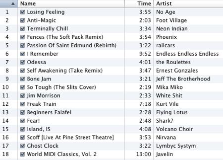 October 2009 Mix
