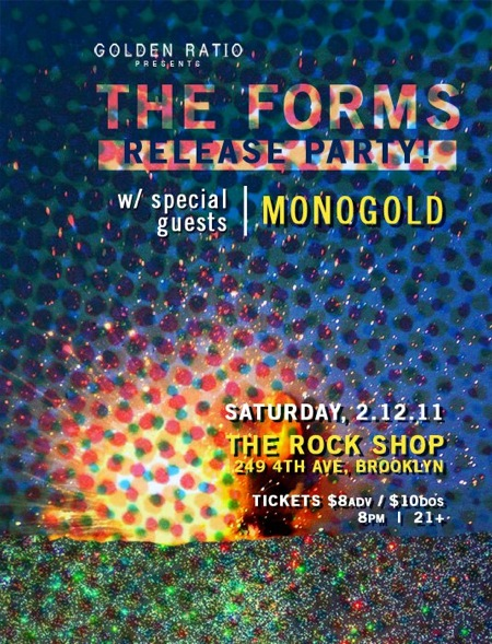 The Forms and Monogold concert poster