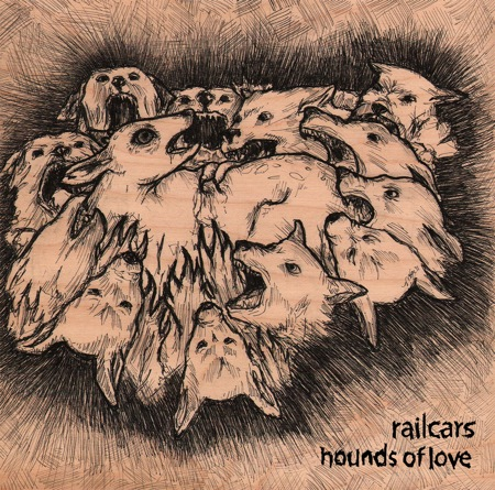 Hounds of Love by railcars vinyl cover, original artwork by mary syring