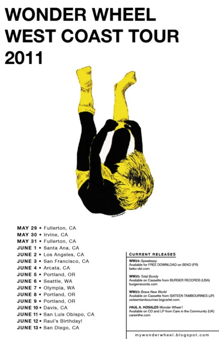 Wonder Wheel West Coast Tour 2011 Poster