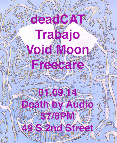 01.09.14 @ Death by Audio art by Travis Poston