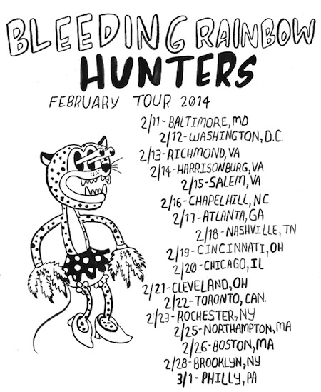 bleeding rainbow tour with hunters