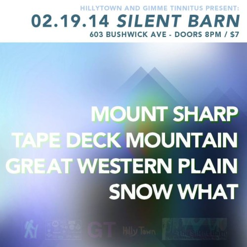 Alt Flyer for Feb 19th show at Silent BArn