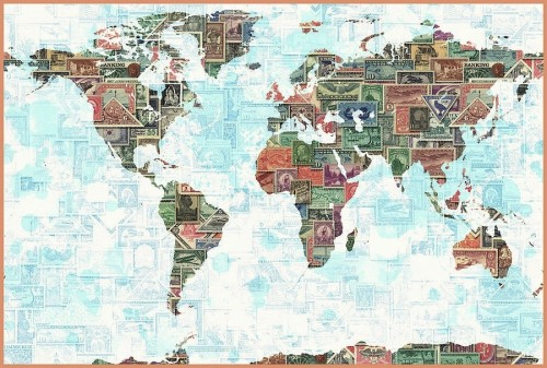 world map stamps by gary grayson - guest post tj richards of trabajo