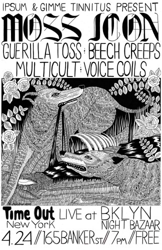 show :: TONIGHT! @ Brooklyn Night Bazaar > Moss Icon + Guerilla Toss + Beech Creeps + Multicult + Voice Coils