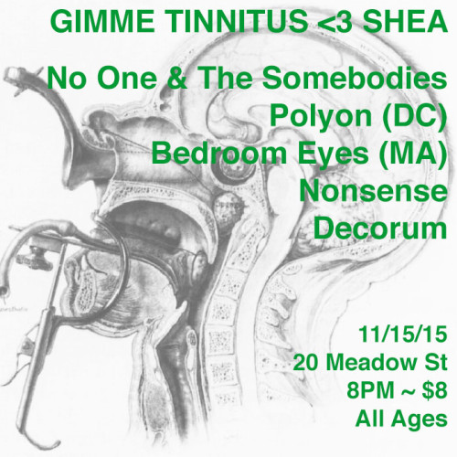 TONIGHT! @ Shea Stadium > No One and The Somebodies ~ Polyon ~ Bedroom Eyes ~ Nonsense ~ DECORUM
