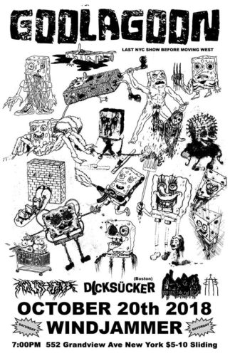 show :: 10/20/18 @ The Windjammer > Goolagoon + Dicksucker + Chaste + Mouthgate