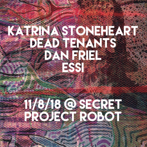 show :: 11/8/18 @ Secret Project Robot > Katrina Stonehart Album Release Show with Dead Tenants, Dan Friel, ESSi