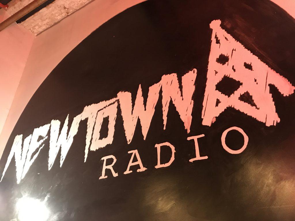 newtown logo mural