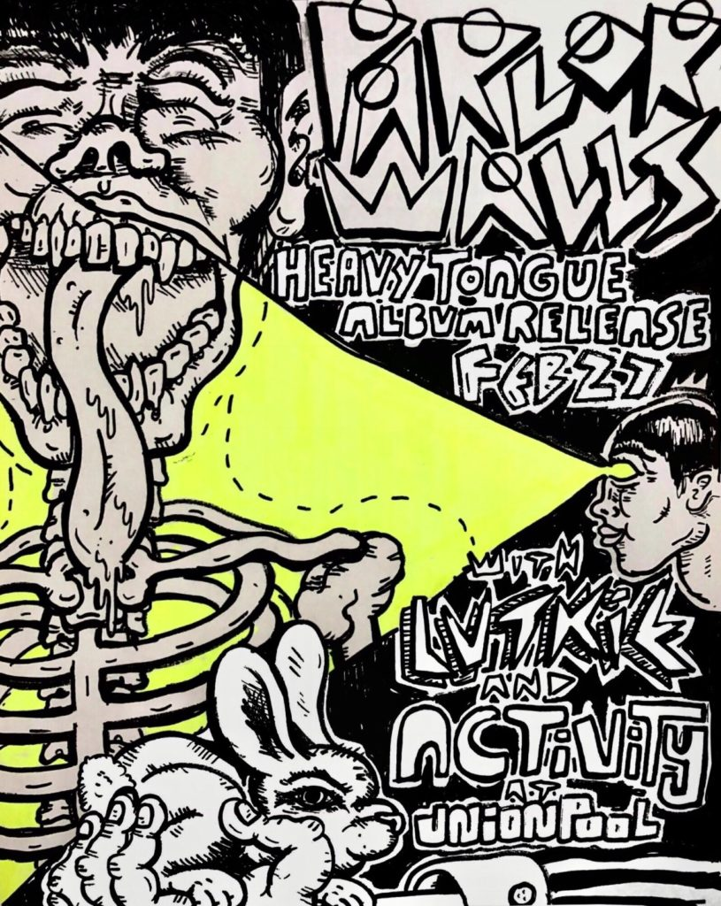 heavy tongue release show flier