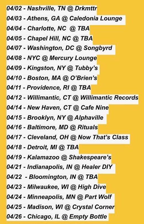 xetas april 2020 tour dates