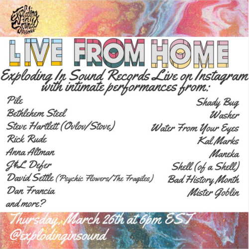live stream :: Exploding In Sound > Live From Home (3/26/20)