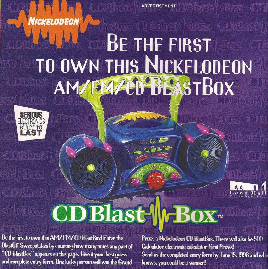 Nickelodeon CD Blast Box
